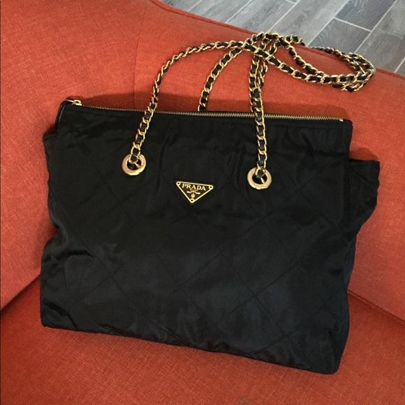 Prada Handbags - Prada chain tote